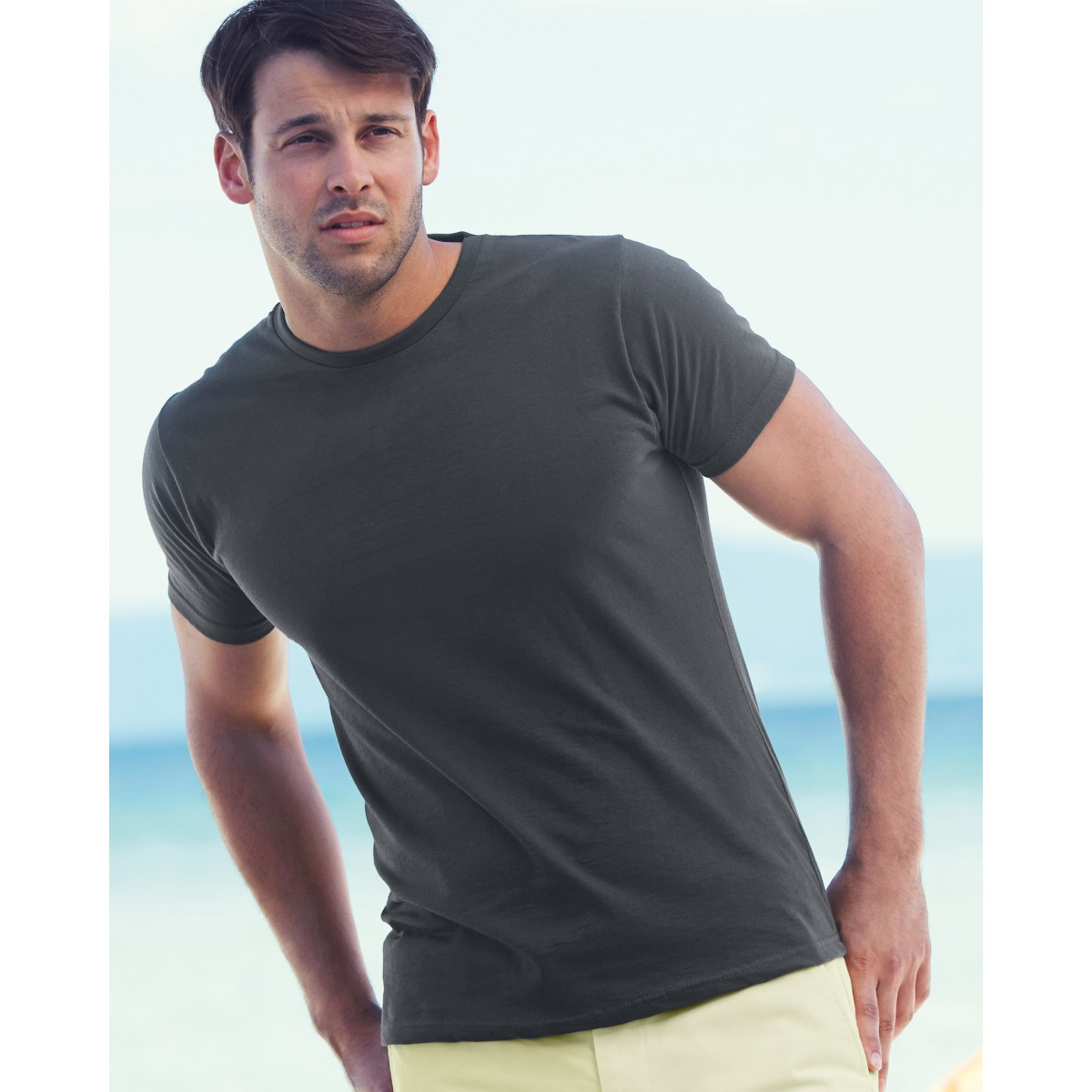 Fruit of the loom men 39 s fitted valueweight t shirt for Fitted shirts for mens
