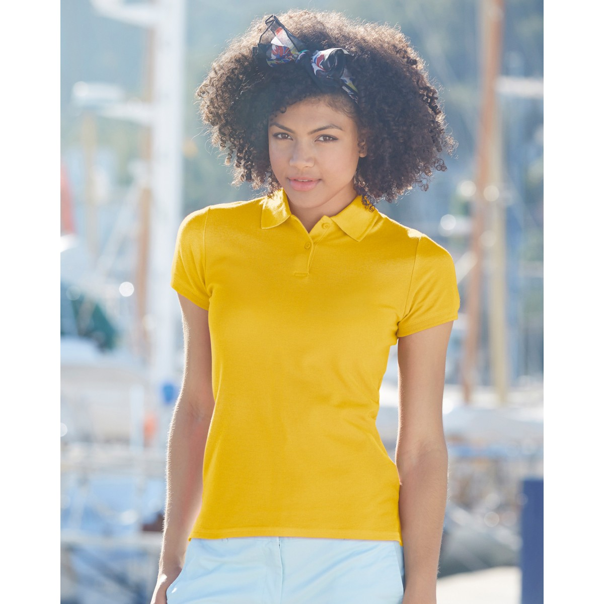 c8268feaeea Fruit Of The Loom Lady Fitted Premium Polo for Embroidery