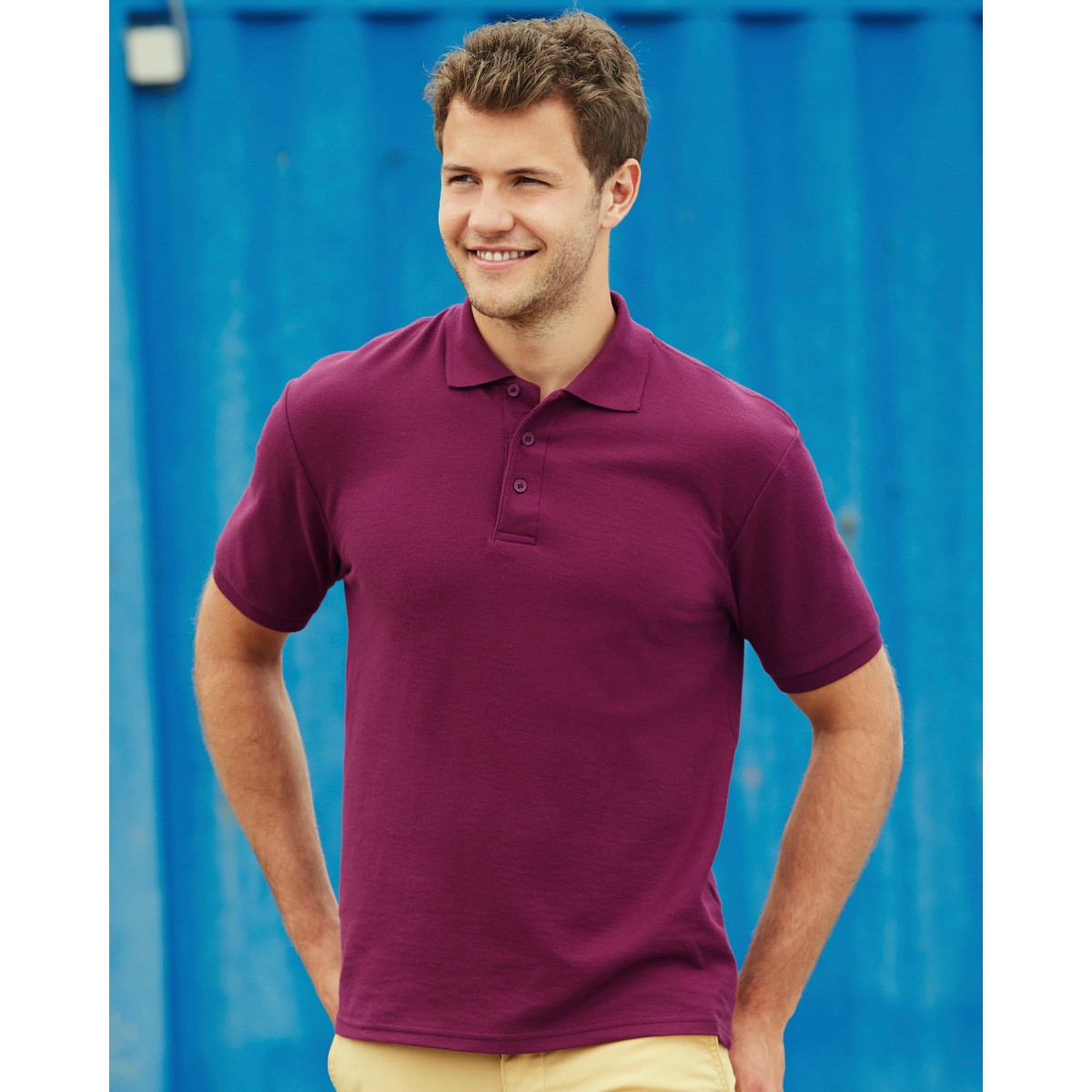 Mens Fruit of the Loom 65//35 Polo Shirt
