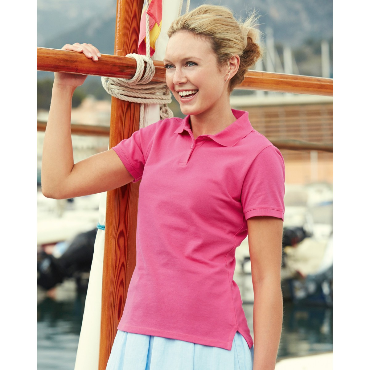 b78a8b32339 Fruit of the Loom Lady Fitted Custom Polo Shirts
