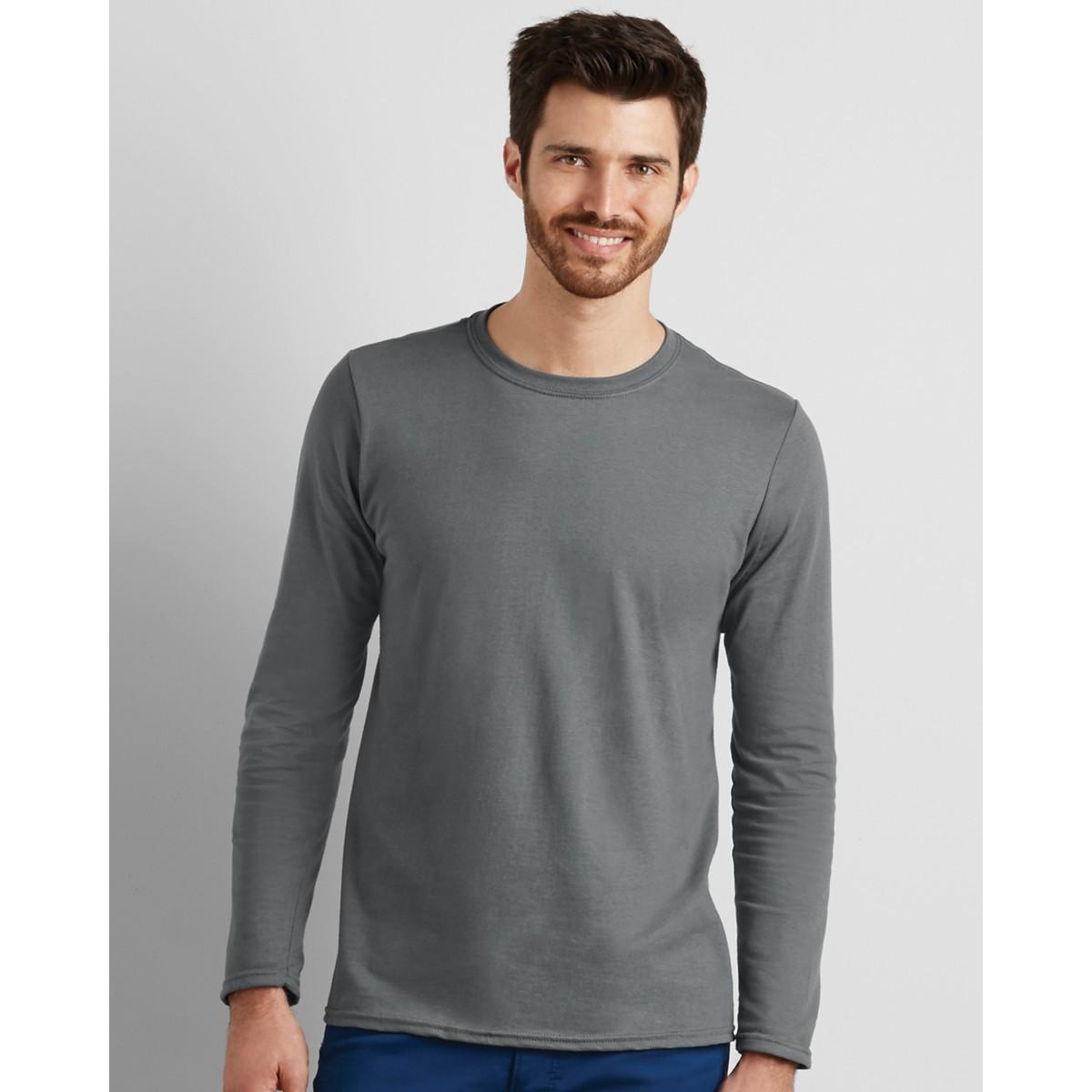 e94e559a75c Gildan Softstyle Men s Long Sleeve Personalised T-shirts