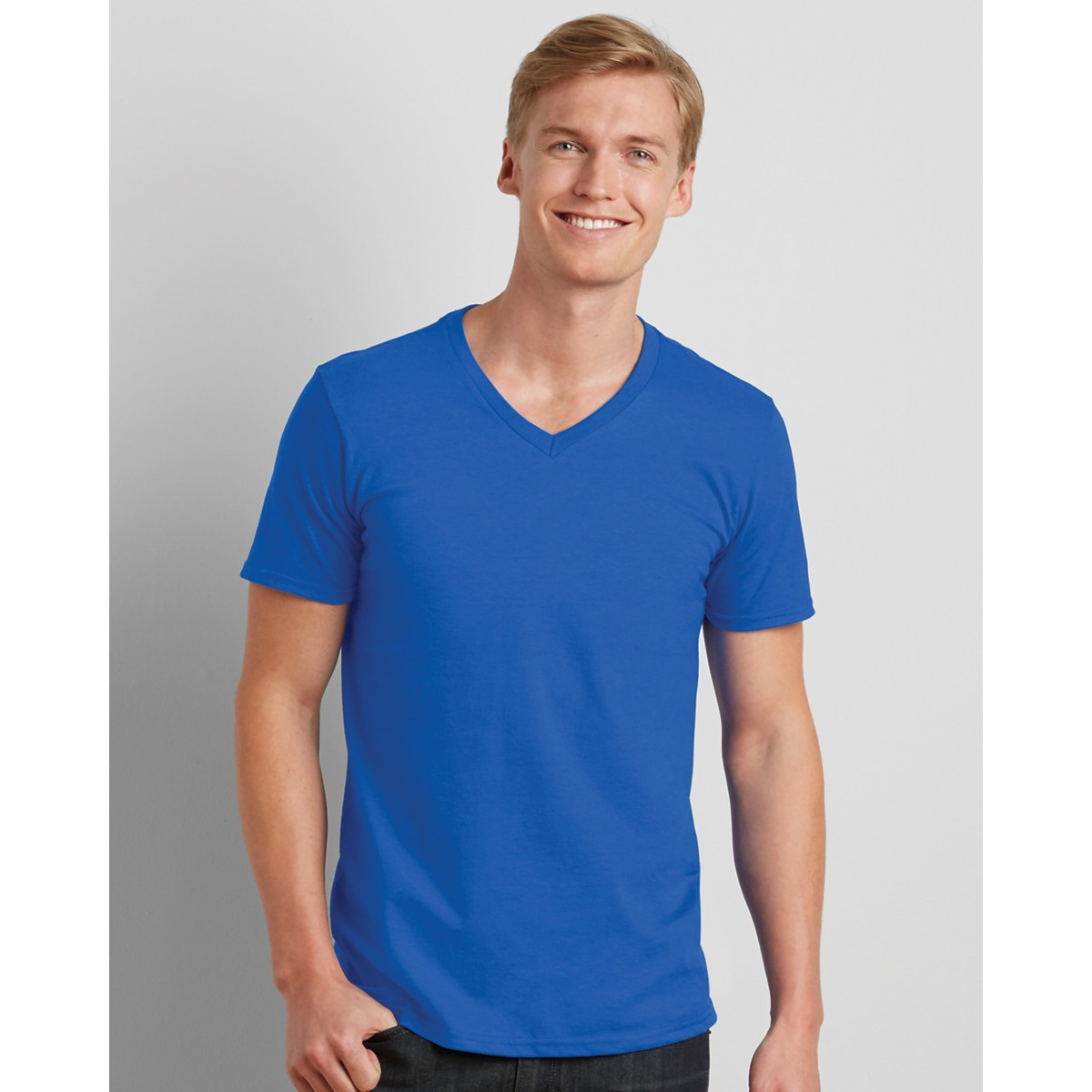 Gildan softstyle men 39 s v neck t shirt for Gildan v neck t shirts for men