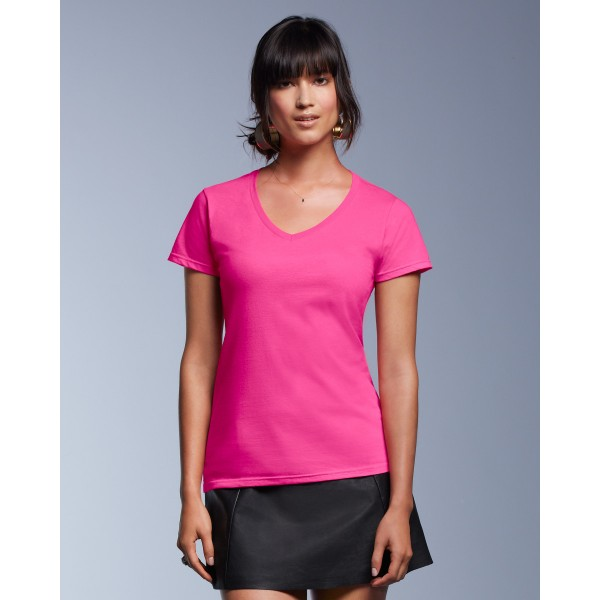 Anvil Women's Fashion Basic V-neck Tee for Printing
