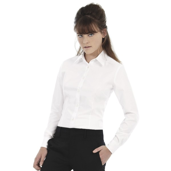 B&C Women's Work Uniforms Long Sleeve Shirts