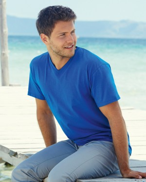 Fruit of the Loom Men's V-neck T-shirts for Custom Clothing