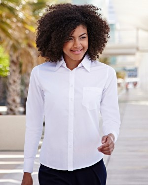 Fruit of the Loom Ladies Custom Poplin Shirts for Staff Uniforms