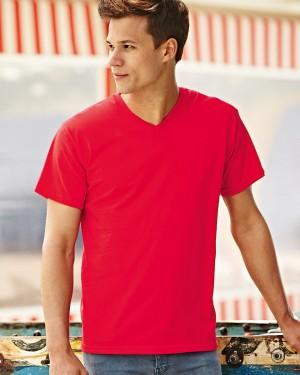 Fruit of the Loom Men's V-neck T-shirts for Custom Clothing