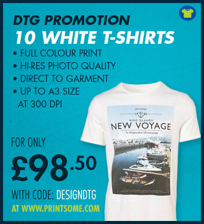 DTG Direct to Garment Printing Offer UK