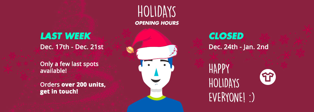 Holidays opening hours 2018/2019