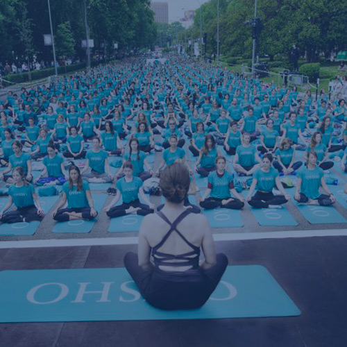 event T-shirts for Oysho's yoga event