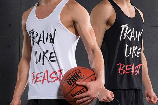 basketball printed vest tops for teams