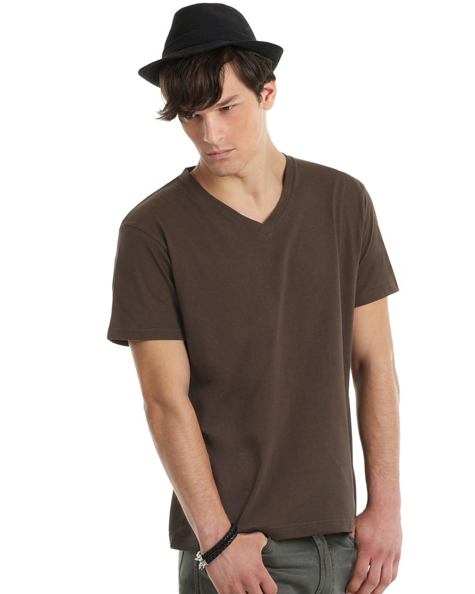 v-neck t shirt for embroidery service
